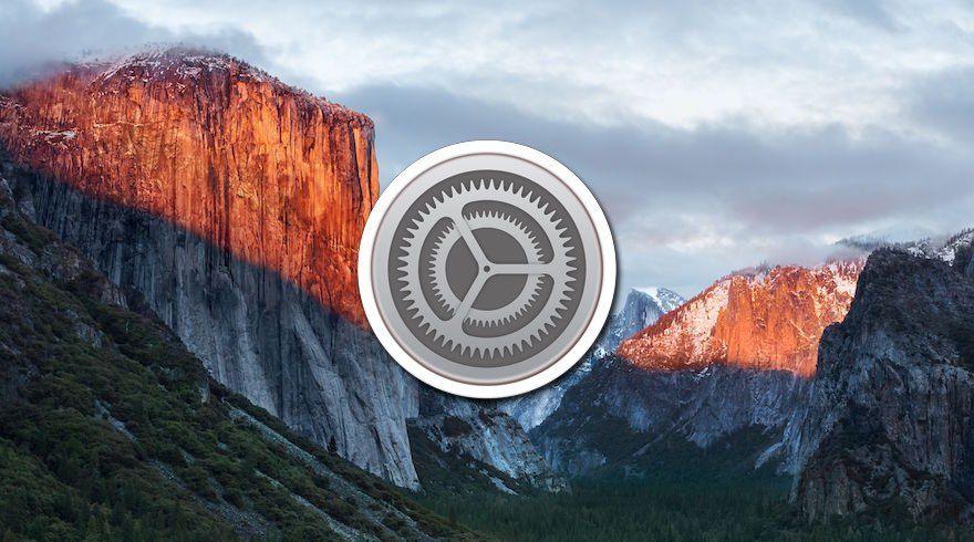 Ajustes OS X El Capitán
