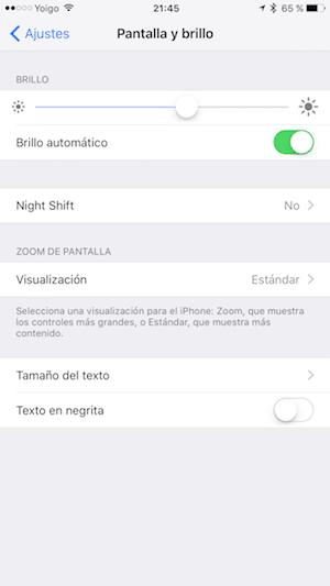 iOS 9.3 Modo noche