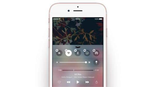 Centro control - iOS 10