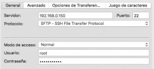 acceder mediante ssh