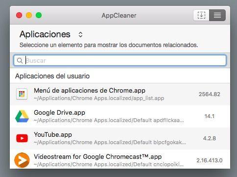 AppCleaner lista de aplicaciones