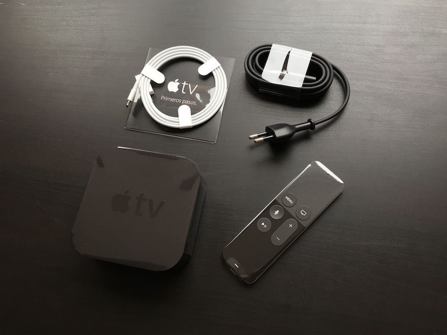 apple tv 4 contenido caja