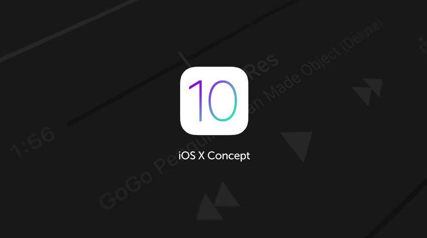 ios 10 concepto