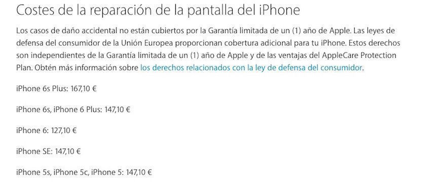 soporte tecnico reparar pantalla iphone