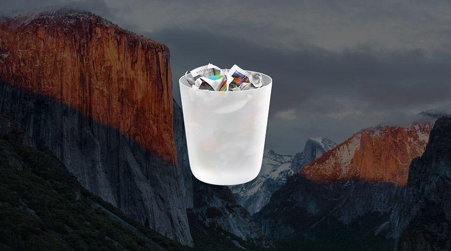 Vaciar papelera OS X