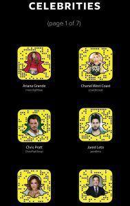snapchat celebrities