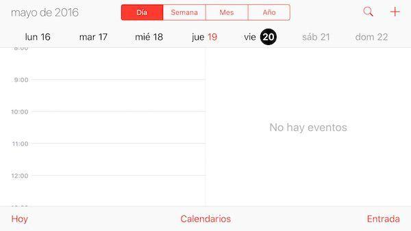 pantalla dividida calendario