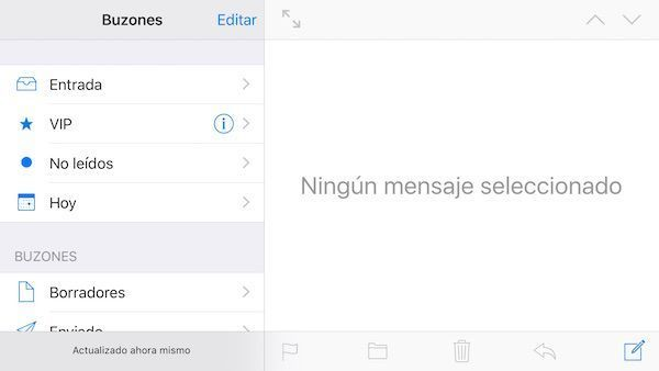 pantalla dividida mail