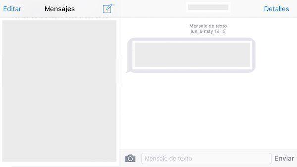 pantalla dividida mensajes