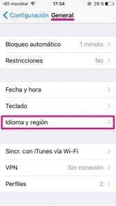 Idioma iPhone 1