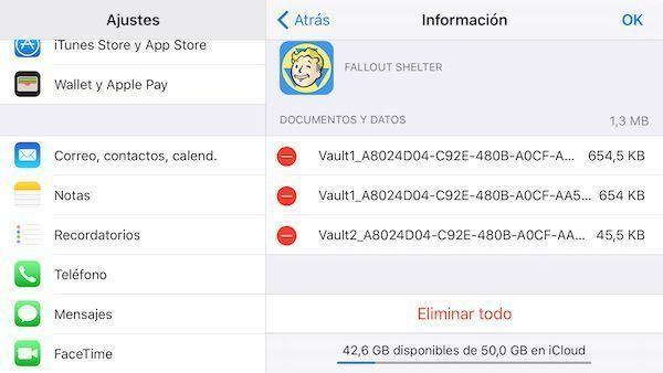eliminar app icloud