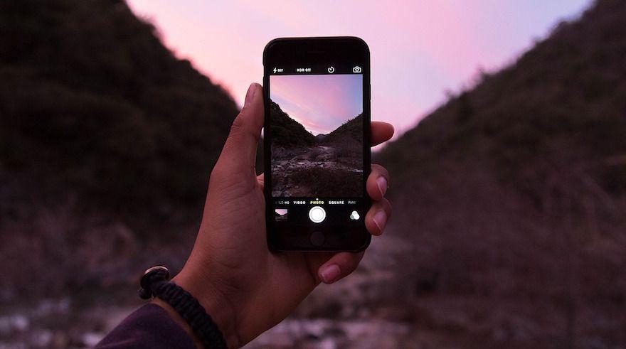 foto iphone noche