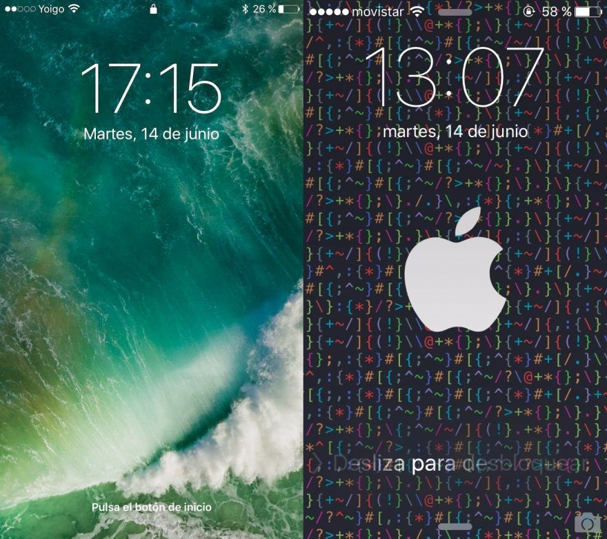 Pantalla desbloqueo iOS 10 iOS 9