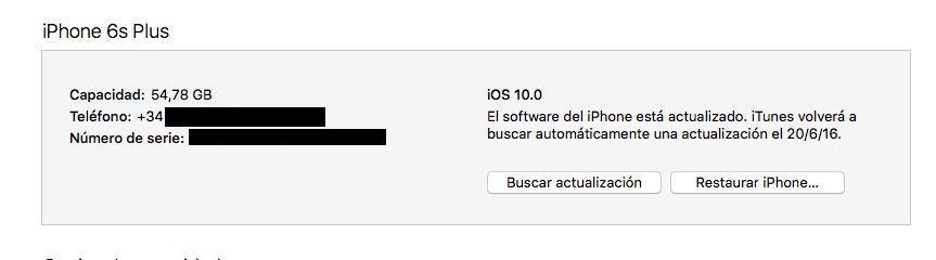 restaurar iphone ios 10