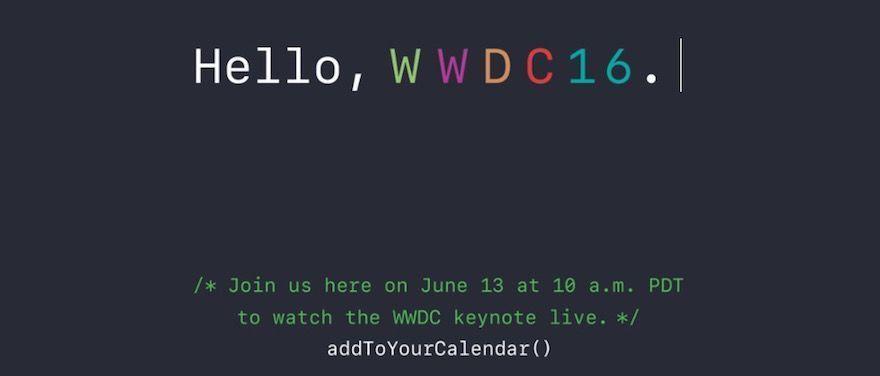 wwdc 2016 horario oficial