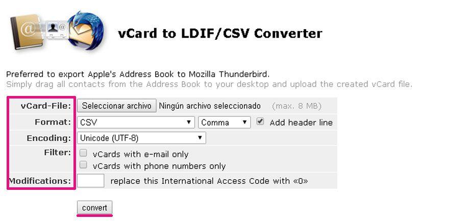 exportar contactos iPhone CSV