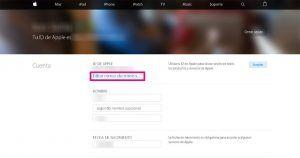 ID de Apple correo cambiar