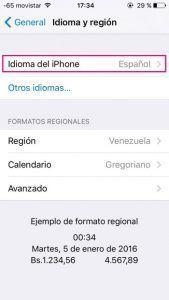 Idioma iPhone 2
