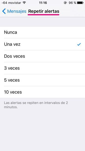 repeticion de mensajes en iPhone