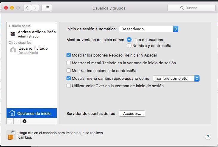 cambiar usuario mac os x 2