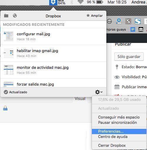 capturas pantalla mac dropbox