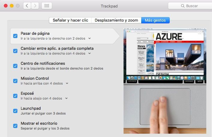 configurar trackpad