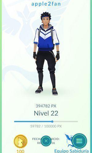 personalizar personaje pokemon go