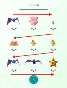pokemon cercanos 3 huellas pokemon go