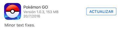 pokemon go 1.0.3 descarga solucion problemas