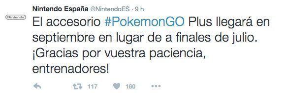 pokemon go plus retraso septiembre