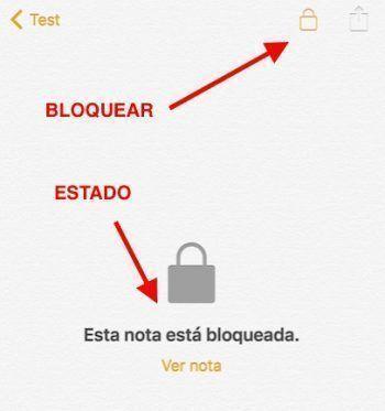 bloquear nota