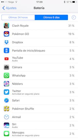 ios 10 consumo bateria