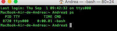 comando ver procesos macos terminal