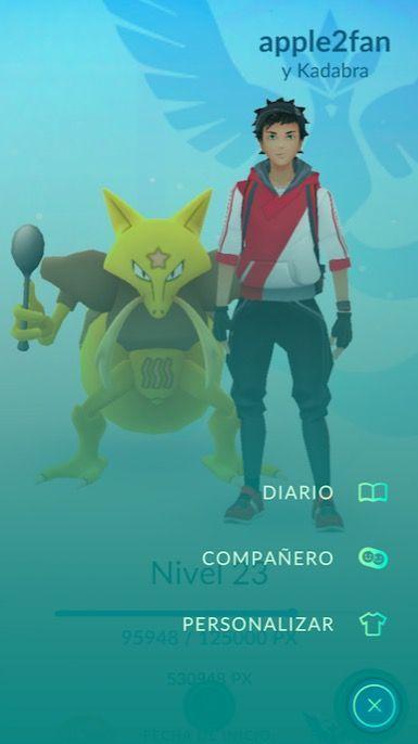 elegir companero pokemon go