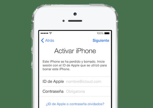 bloqueo activacion iphone