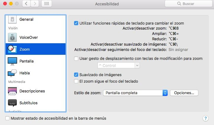 configurar zoom mac