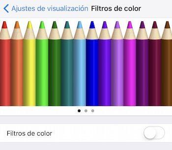 filtros pantalla ios 10