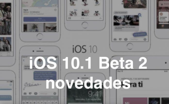 ios 10.1 beta 2 novedades