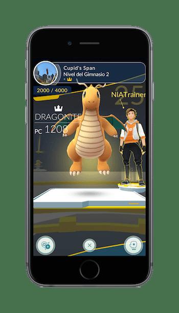 pokemon go entrenamiento