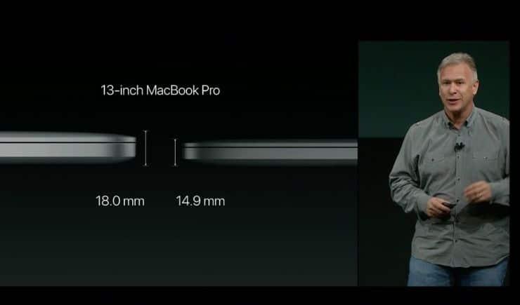 size macbook pro 2016