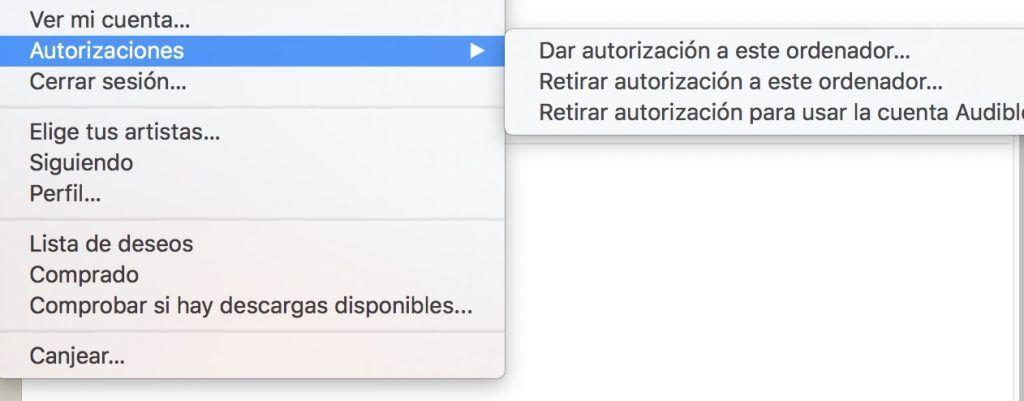 autorizacion ordenador itunes