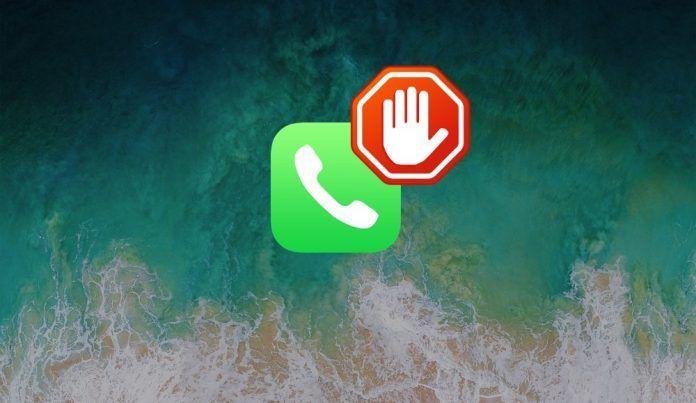 bloquear telefono llamadas ios