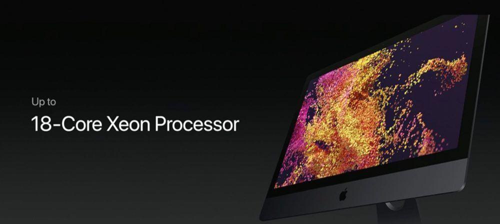 procesador 18 nucleos imac pro