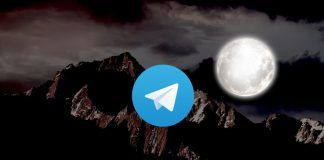 activar modo noche telegram mac
