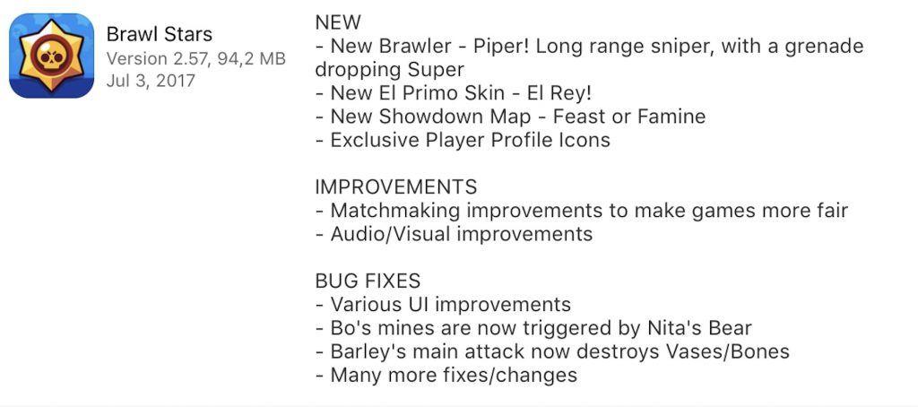 brawl stars 2.57 app store