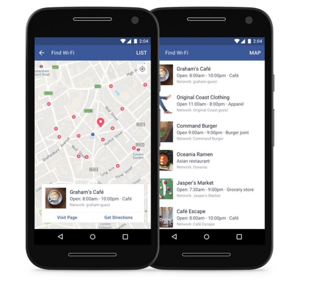 buscar wifi facebook