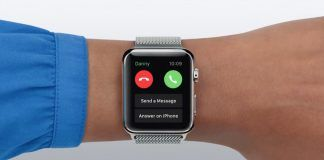 llamada en espera apple watch