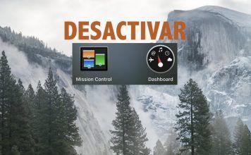como desactivar dashboard mac