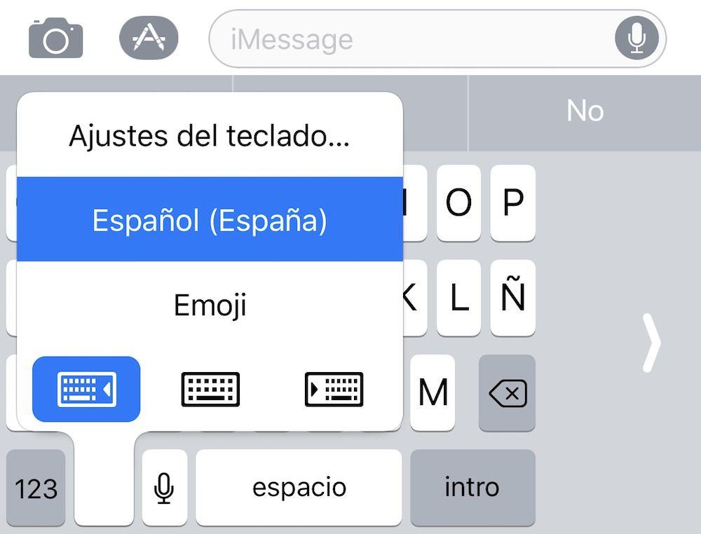 activar el teclado de una mano en iPhone