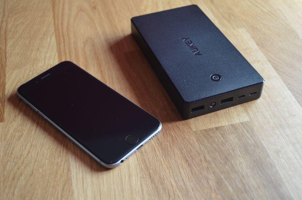 aukey bateria 20000mah iphone